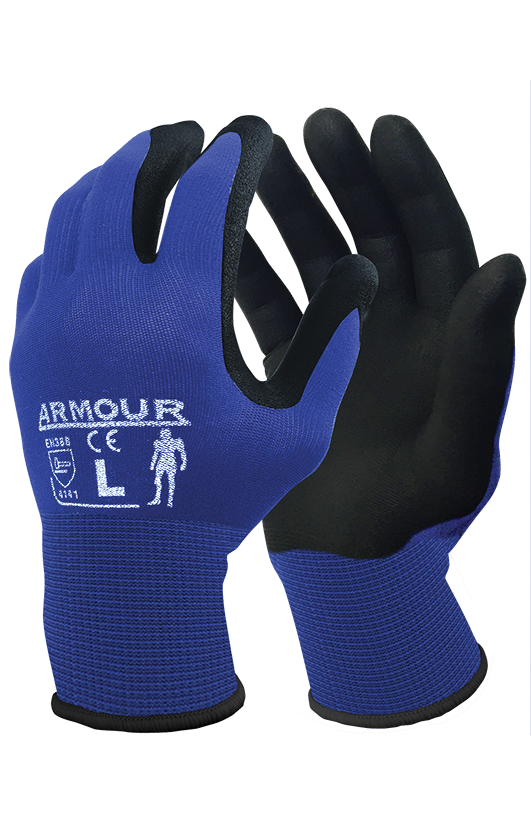 Armour Safety Products Ltd. - Armour Black Foam Nitrile Open Back Glove