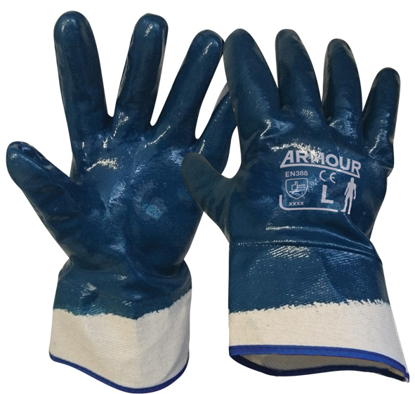 Armour Safety Products Ltd. - Armour Blue Nitrile Full Coat Gauntlet – 27cm